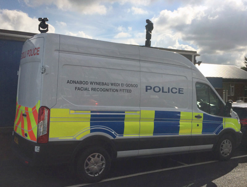 Welsh Police Face Recognition Security Van Used in Face Recognition Arrest
